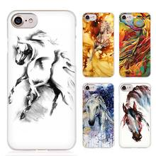 Majestic Mustang Horse art Clear Cell Phone Case Cover for Apple iPhone 4 4s 5 5s SE 5c 6 6s 7 Plus