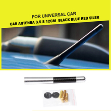 car-styling Delicate Carbon Fiber Look Short Antenna Radio Car Aerial Antenna For Universal Cars(China)