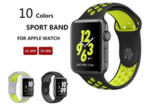 YIFALIAN band for apple watch series 1 2 with Light Flexible Breathable silicone strap for sport band official color