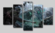 NO Frame Artwork Modern Destiny Pictures for Home Wall Deco Canvas Painting Game Posters 5Panels for livingroom