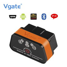 Vgate iCar2 ELM327 OBD2 Bluetooth Adapter OBD 2 Car Diagnostic Tool Scanner ELM 327 V2.1 Diagnostic-Tool For Android PC(China)