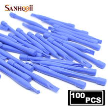 SANHOOII 100pcs Opening Pry Tools Plastic Spudger For iPhone For Mobile Phone Repair Laptop Desk PC Disassembly Tools Wholesale