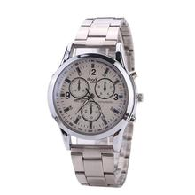 Men And Women General Business mens watch day date analog quartz Stainless Steel Strap men famous brand unisex Clock sliver