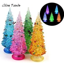 Colorful Fiber Optic Tree Christmas LED Home Party Xmas Decoration Light Christmas gift New Year Home Decoration Kids Gifts(China)