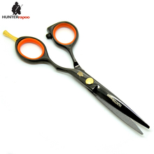 "20% Off HT9114 5.5"" Black Barber Scissors hair Professional Shear Hairdressing salon scissor for hair cut hairdresser supplies(China)"