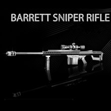 Barrett Sniper Rifle Jigsaw Puzzles Educational Toys Gun Model Stainless Steel DIY Assembly 3D Metal Puzzle For Children(China)
