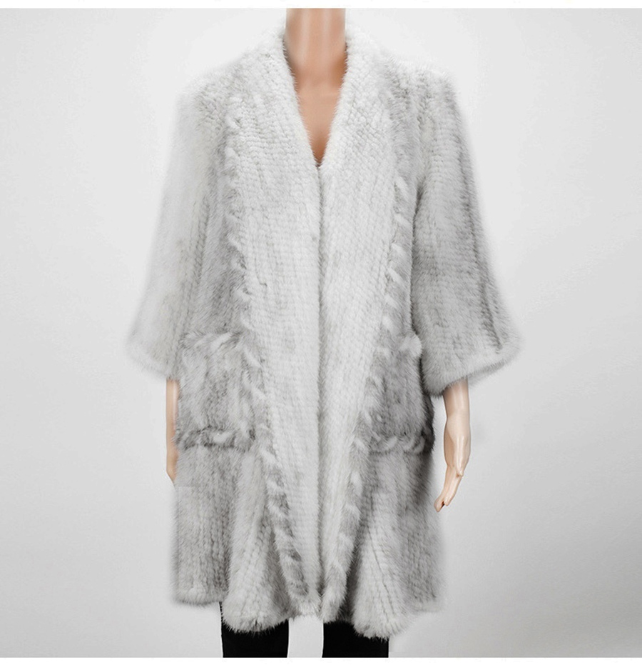 women luxury genuine real knitted mink fur shawls (14)