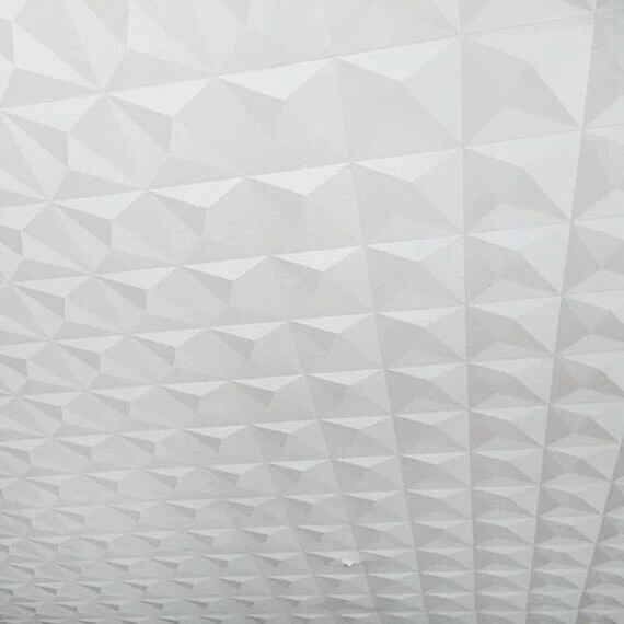Ceiling Wallpaper 3D stereoscopic White Diamond TV Background Hotel Papel De Parede Living room Bedroom Roof Wallpaper Roll<br>