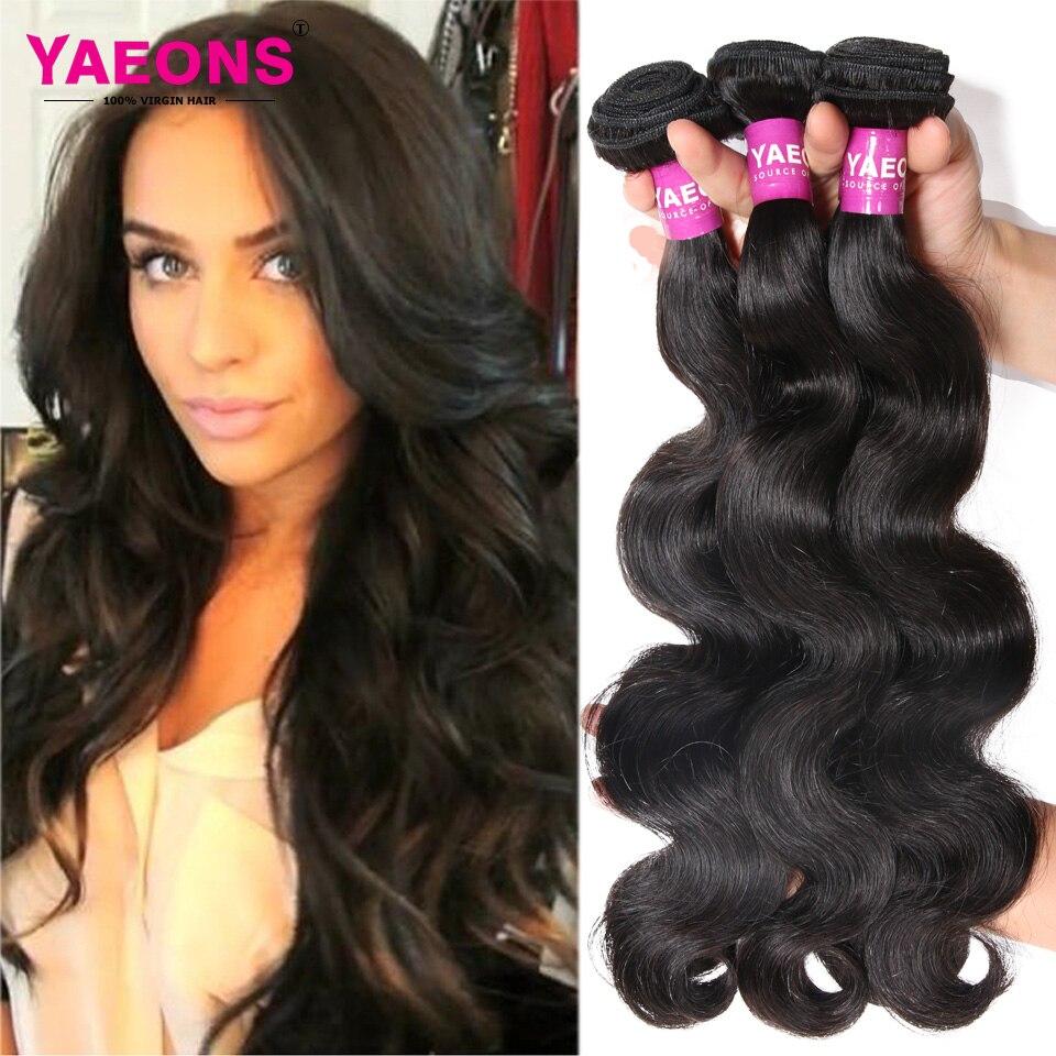 7A Peruvian Virgin Hair Body Wave 3 Bundles Yaeons Peruvian Human Hair Weave Bundles Unprocessed Peruvian Virgin Hair<br><br>Aliexpress