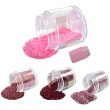 1 Bottle 10g Pink/Rose/Red Colors New Nail Designs 3d Shinning Sequin Dust Gem Nail Art Glitter Powder Tips #05/11/35/38(China)