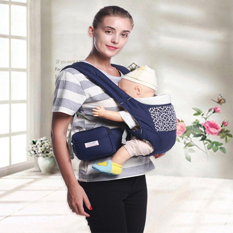 Taburete de cintura Portabeb/és Hipseat port/átil Ergon/ómico Respirable Sling ajustable Multifuncional Cintur/ón infantil Mochila Toddler Front Holder Azul