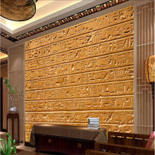 beibehang Custom Mural Wallpaper Any size 3D Egyptian relief stone tablet writing living room background wall painting(China)