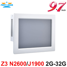 Z3 BayTrail Celeron J1900 Quad Core Intel N2600 Dual Core 9.7 Inch Taiwan High Temperature 5 Wire Fanless All-In-One PC