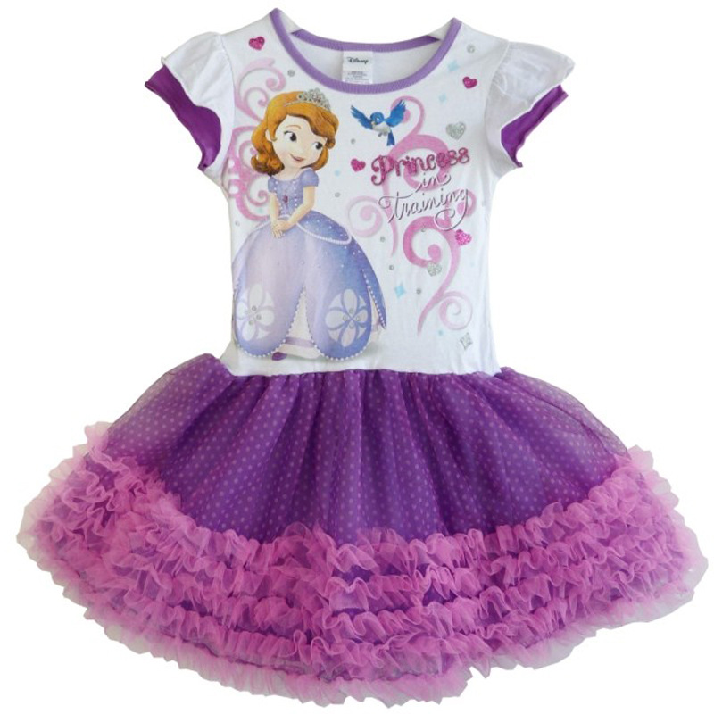 Hot Baby Girl Dress Sofia Summer Dress Sofia The First Tutu Princess Dresses Girls Clothing Robe Fille Enfant Vestido 3-7Y<br><br>Aliexpress