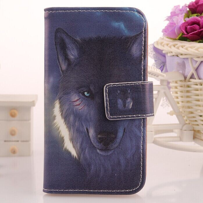 Exyuan Leather Skin Book Design Wallet Bag Cell Phone Cover & Card Slot Case For Utime Smart PDA S38 U100 u100S(China)