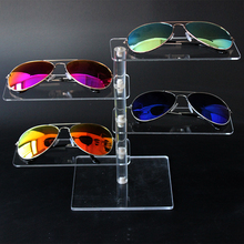 Transparent Sunglass Display Stand Holder Rack For Four Pairs Eyeglasses Optical Display(China)