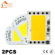 2Pcs LED Lamp Chip COB 100W 50W 30W 20W 15W 10W 220V 240V LED COB Chip Cold/Warm White Smart IC For DIY LED Spotlight Floodlight(China)