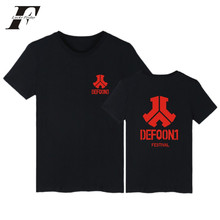 LUCKYFRIDAYF Defqon.1 2017 New Style Summer Music Festival T-shirt With Short Sleeve Trends Logo Men/Women Kpop XXXXL Plus Size