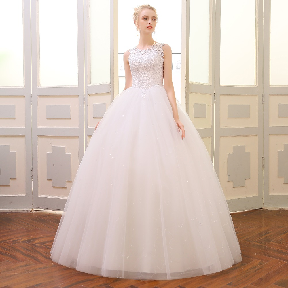 QQ Lover 2018 Lace Embroidered Beading Vintage Sweet Straps Wedding Dress Yarn Puff 4