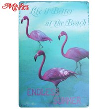 [ Mike86 ] Endless Summer Life is better on the beach Metal Sign Home Mural Hotel Nostalgia Plaque Party Decor 20X30 CM AA-726
