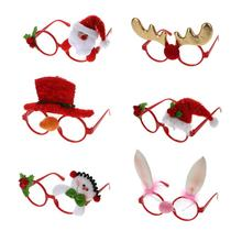 Kids Adult Christmas Sunglass Eyeglass Costume Eye Frame Party Decoration Gift Photo Booth Funny Glasses Photo Props Eyewear(China)