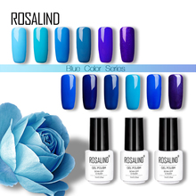 Rosalind 7ml Nail Gel Polish UV&LED Lamp Drying Magic Blue Color White Bottle Soak-off Gel Varnish Almost Flavorless Manicure(China)