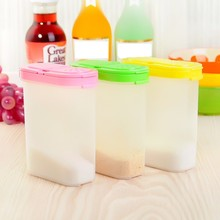 250ml Plastic Food Seasoning Container Kitchen Spice Boxes Jar Double Lid Cereal Condiment Bean Storage Bottle Container