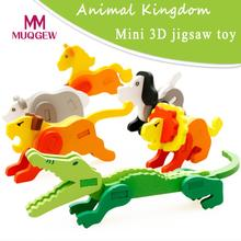 MUQGEW Brand Montessori Mini 3D Puzzle Kids Educational Toy Wooden Colorful Jigsaw Gift Wooden Colorful Jigsaw Gift Educat Toys(China)