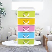 Hot Selling Mini Storage Cabinet Drawer Type Candy Color Multifunction Storeage
