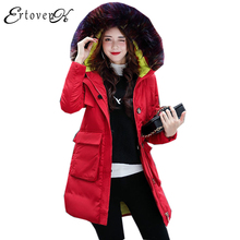 Large Fur Collar Women Coat Winter Cotton Jacket 2017New Thick Trend Top Clothes Temperament Outerwear casaco femininoLH107(China)