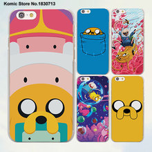 adventure time cute Beemo BMO Jake Finn Lumpy Design hard clear Skin Cover Case for Apple iPhone 6 6s 7 Plus SE 5 5s phone case(China)