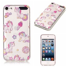 for Coque IPod Touch 5 Silicone Case Cover IPod Touch 5 Soft Case Back Cartoon Unicorn Clear Transparent TPU Case Fundas