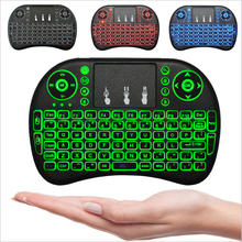 Mini wireless portable light function 3 colors backlighting touch keyboard flying squirrels