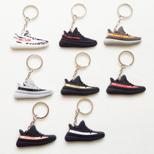 Mini Silicone Sneaker SPLY-350 BOOST 350 V2 Keychain Key Chain Shoes Car Key Holder Woman Men Bag Charm Accessories Key Rings(China)