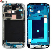 Original quality silver Front Plate Frame LCD Holder Bezel Middle housing For Samsung Galaxy S4 i9505 i9500 i337