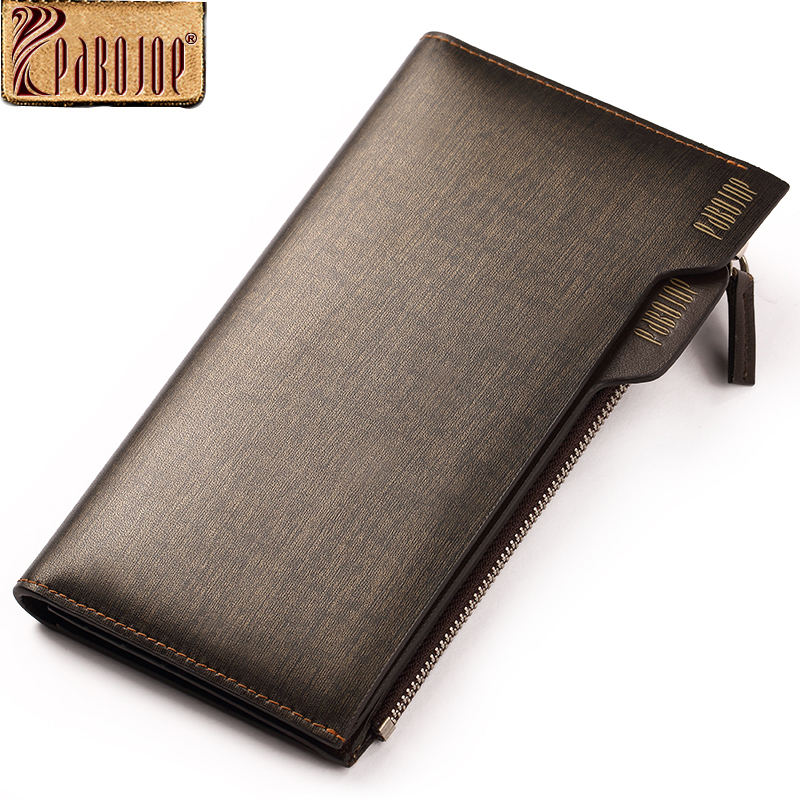 Pabojoe luxury brand men wallets long split leather zipper credit card holder wallet fashion purse<br>