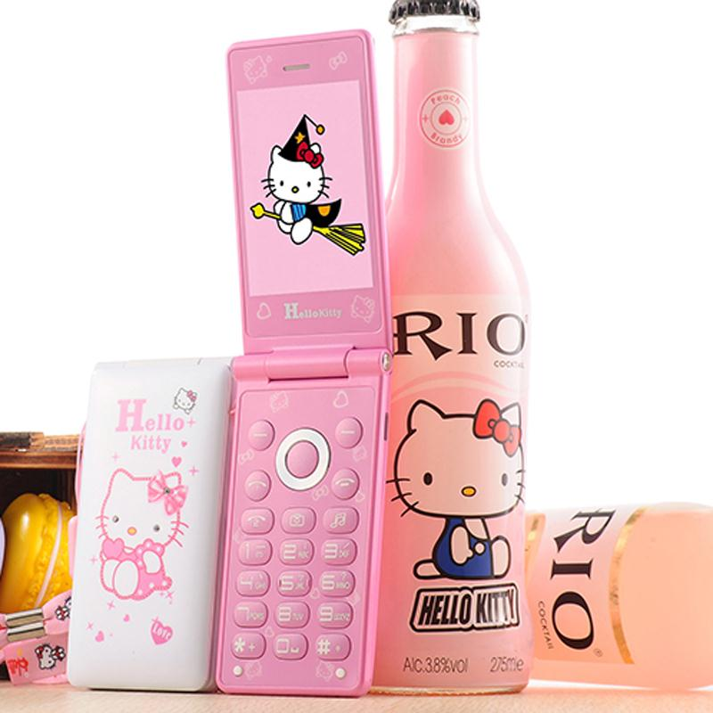 Original KUH D10 Dual SIM Cat Flip Phone GPRS Breath Light Cell Phone Women Girl MP3 MP4 Cartoon Hello Kitty Mobile Phone(China (Mainland))