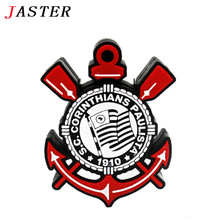 JASTER Cartoon Brazil Corinthians Badge USB 2.0 Memory flash stick football club pendrive Genuine 4gb/8gb/16gb/32gb gifts