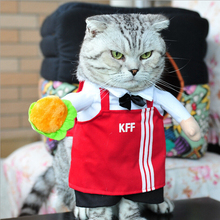 Winter Clothes for Pet Cat Costumes Funny Servant Cook Uniform Dog Customes Coat Puppy Clothes Ropa para Gatos Mascotas