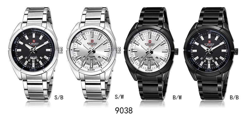 2017 NAVIFORCE Nouveau Top Marque Hommes de Montres Hommes En Acier Plein Imperméable Casual Quartz Date Horloge Mâle montre-Bracelet relogio masculino 17