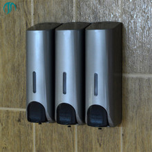 350mlX3 Plastic Hotel Shampoo Bottles Bathroom Soap Dispenser Wall Mounted Soap Container Soap Liquid Shampoo Dispenser
