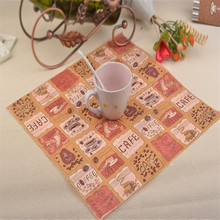 Coffee Cafe Bean Tissue Food-grade Printed Paper Napkins Placemats for Party Decoration table accessories 20pcs