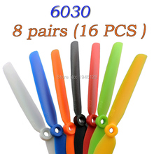 8 pair 6030 Propeller 6X3 Multicopter CW CCW Prop for QAV250 Quadcopter Prop(China)