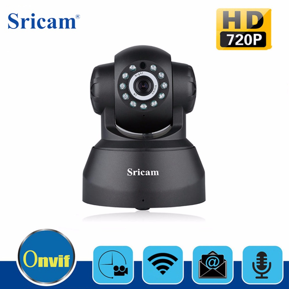 Sricam SP012 IP Camera WIFI 720P Home Security Surveillance Onvif P2P Phone Remote 1.0MP Wireless Video Surveillance Camera CCTV<br>