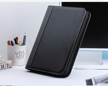 multifunction PU leather business office file folder a4 for papers manager bags for documents papers portfolio padfolio 1201C(China)