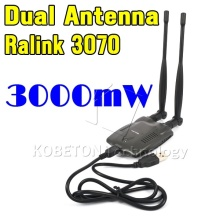 3pcs USB Wireless BT-N9100 Beini free internet receiver High Power 3000mW Dual OMNI Antenna Wifi Decoder Ralink 3070