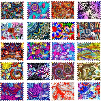 YZWLE 1 Sheet 2017 New Fashion Colorful Full Cover Stamp Nail Sticker Nail Art Water Transfer Decals for DIY Nail Decor