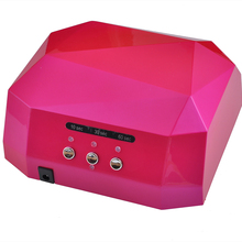 2017 Newest 36W gel nail machine CCFL UV LED lamp for drying nail dryer GEL Nail Curing Polish Light 220-240V Diamond Pink(China)