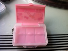 20pcs/lot Free shipping Novelty hello kitty Portable Pill Box Jewelry storage box 6Slots(China)