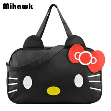 Cute Hello Kitty Handbag Girl's Women's Travel Messenger Bags Dual-use Organizer Shoulder Accessories Supplies Products(China)